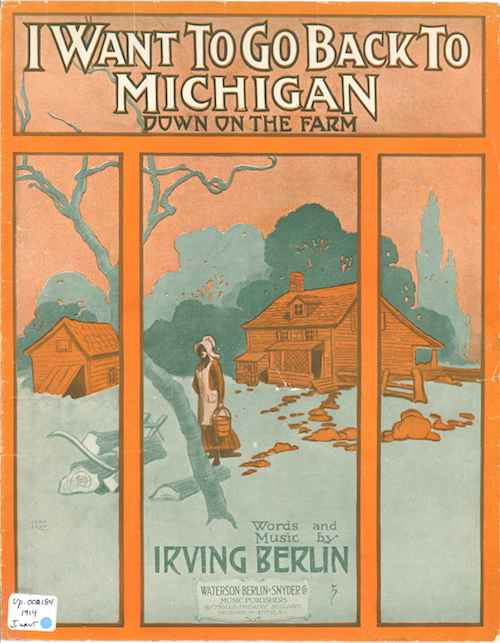 Bagaduce-Music-Lending-Library-Sheet-Music-Exhibit-I-Want-to-Go-Back-to-Michigan-cover